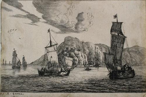 fischerboote in einer felsbucht by zeeman