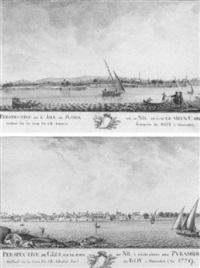 vue de l'île de roda sur le nil au caire by jean-baptiste adanson
