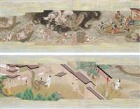 hachiman no goengi - legends of hachiman shrine (pair) by japanese school (18)