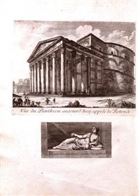 les plus beaux monuments de rome ancienne ou recueil des plus beaux morceaux de l'antiquité romaines qui existent (bk by artist w/128 works) by jean barbault