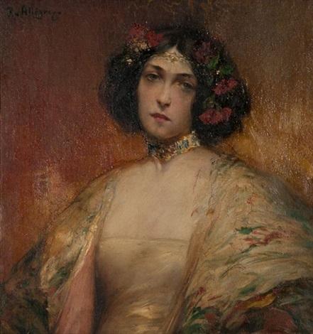 portrait dune jeune femme orientale by raymond allègre