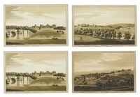 blenheim; penshurst; rochester bridge and castle (4 works) by j.c. stadler