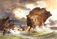 pulpit rock, nahant by henry hitchings
