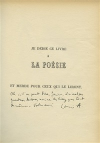 le mouvement perpétuel (bk by louis aragon w/2 works) by max morise