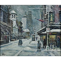 bleecker st., the village, nyc in winter by philip a. corley