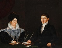 portrait of a man and his wife by gerrit hendrik gobell