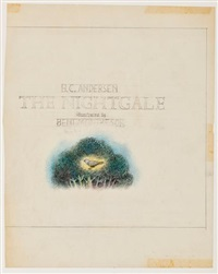 the nightingale (sketch for title page) by benito (beni) montresor