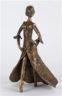 tanzendes mädchen in langem kleid by meta (maria theresia) mettig von ellenberger