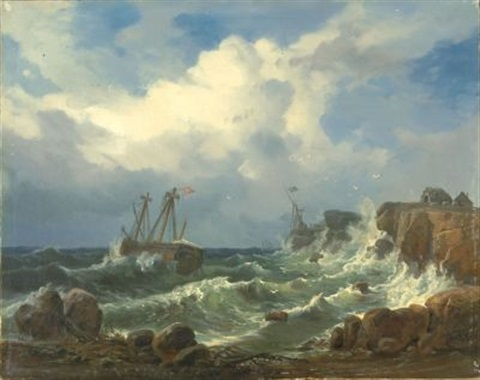 sturm an der felsenküste after morgenstern by wilhelm boshart