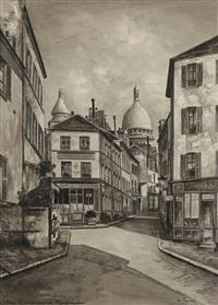 paris, la commune de montmartre by auguste jouve