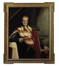 portrait of frederick, 4th earl spencer k.g. by stephen catterson smith