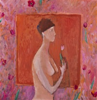 dziewczyna z tulipanem by michal zaborowski