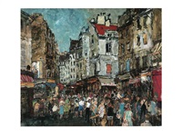 crowd (morning market in paris) by yukio kodama