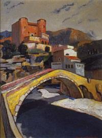 scorcio di dolceacqua, 1927 by agostino bosia