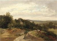 harrow from hampstead by thomas richard hofland