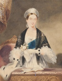 portrait of queen victoria (after edmund thomas parris) by william warman