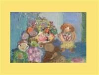 blumenstillleben neben kind by pola aivazian-rossi