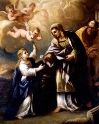 the holy family by giuseppe simonelli