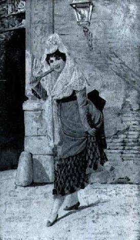 mujer a la puerta de la catedral by adolfo aguila acosta