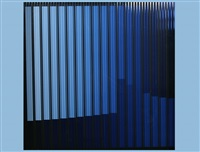 komposition in blau/schwarz (diptych) by rolf forster