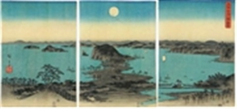 buyo kanazawa hassho yakei a night view of the eight great places of kanazawa buyo3 works by ando hiroshige