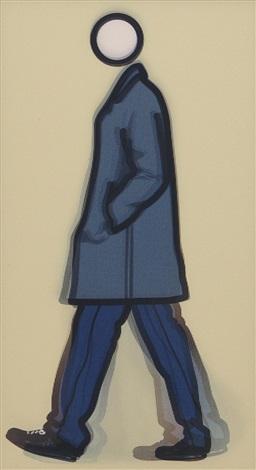 jeremy walking in coat by julian opie