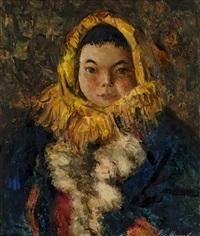 girl in khanty by vladimir aleksandrovich igoshev