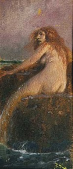 sirène au bord de l'eau by arnold böcklin the elder