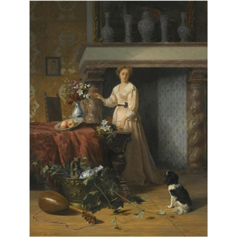 arranging flowers by david emile joseph de noter