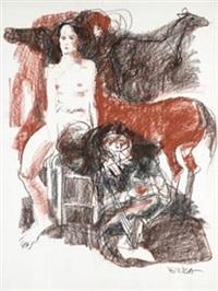 desnudo en silla by oscar estruga