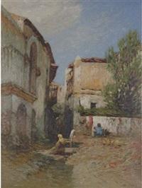 mediterranean village by otto geleng