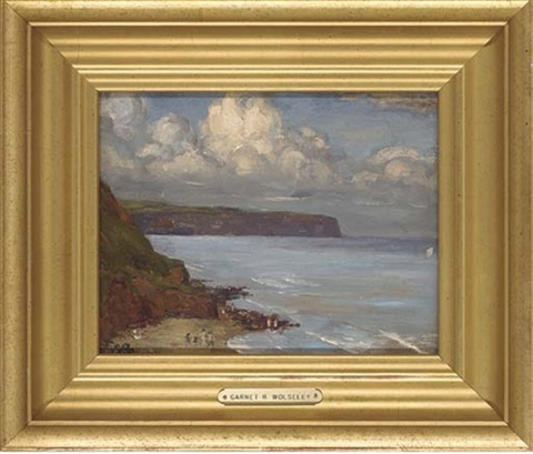 figures in a summer cove by garnet ruskin wolseley