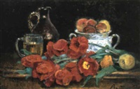 nature-morte aux tulipes by irina vitman