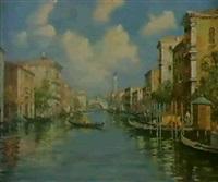 canale grande und rialto by giovanni vianello
