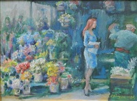 flowers and customers by clyde singer