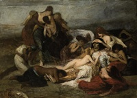 la mort de ravana, roi de ceylan by fernand cormon