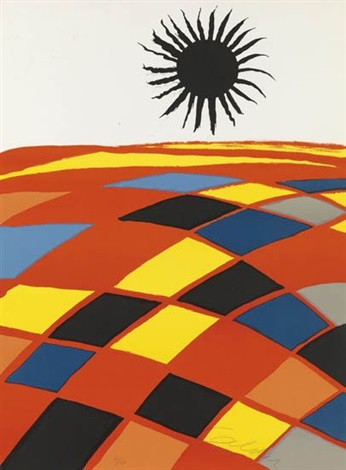 landscape with black sun by alexander calder
