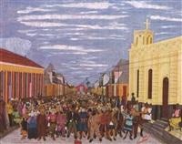 carnaval de 1954: rue du pont du cap-haitien by philomé obin