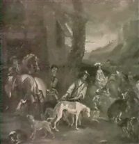 the departure for the hunt by juriaen jacobsen