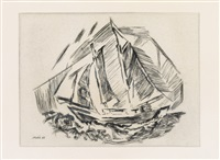 sailboat by john marin