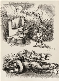 série villon n°1 by gérard garouste