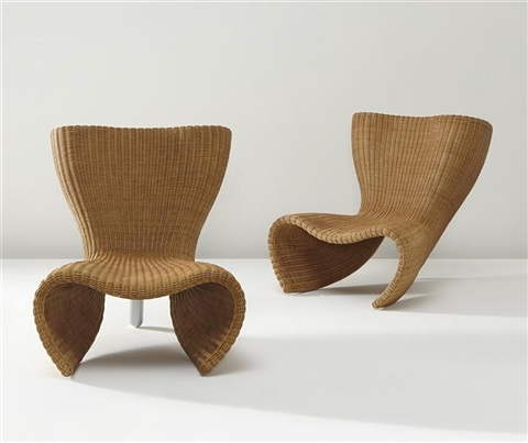 wicker chairs pair by marc newson
