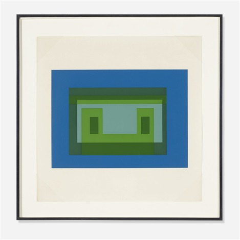 variant v from the ten variants portfolio by josef albers