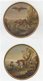 scène de chasse au cerf by cesare aguatti