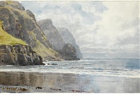 the great kell strand, achill island, ireland by william trost richards