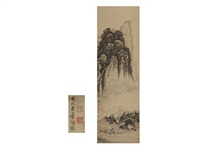landscape with fisherman by shohaku