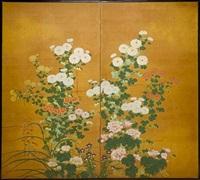 two-fold screen by japanese school-rimpa (19)