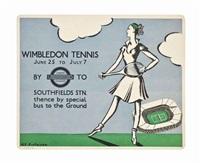 wimbledon tennis by anna katrina zinkeisen