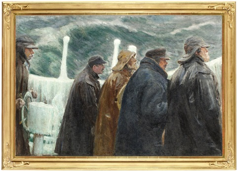 på kommandobryggan by michael peter ancher
