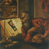 saint jerome in his study by marinus van reymerswaele
